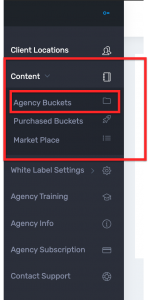 Step 1 Content Agency Buckets