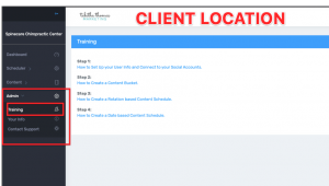Step 2a Client Location Training