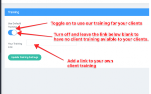 Step 2b Client Training Switch