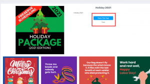 Step 3 Claim Holiday Pack