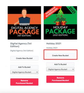 Step 5 Create New Bucket Holiday Pack